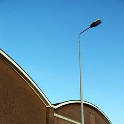 streetlight with building