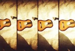 zweigeteilte gitarre.