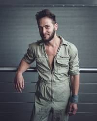 Portrait of a man in a jumpsuit