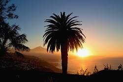 romantic golden sunset with Teide-look