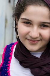 Portrait of Teenage Smiling Beautiful Muslim Girl