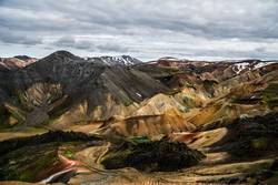 Mountain range in the Icelandic highlands