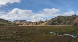 Colorful mountain range in the Icelandic highlands