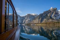 A boat trip on Lake Königssee in the Berchtesgaden NP