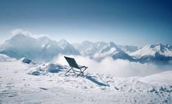 Freie Sicht auf die Alpen
