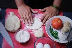baking and preparing dinner