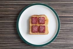 salami toast