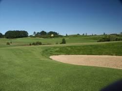 Golfplatz mit Bunker