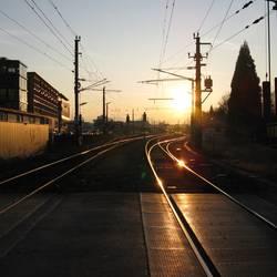 Ankunft bei Sonnenuntergang