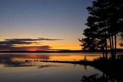 Susnset at lake Orsa