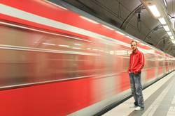 Zug-Abfahrt