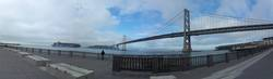 View on Bay Bridge from Embacadero